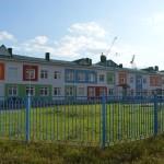 Кирпичная кладка детского сада в Омске