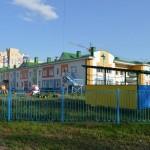 Кирпичная кладка детского сада в Омске на Светловской