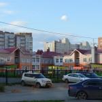 Кирпичная кладка детского сада в Омске на Туполева