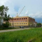 Кирпичная кладка школы в Называевске