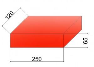 Размеры рядового одинарного кирпича